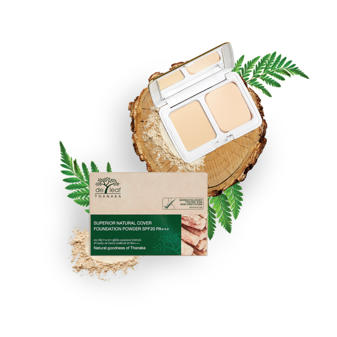 De Leaf Thanaka Superior Natural Cover Foundation Powder SPF20 PA +++