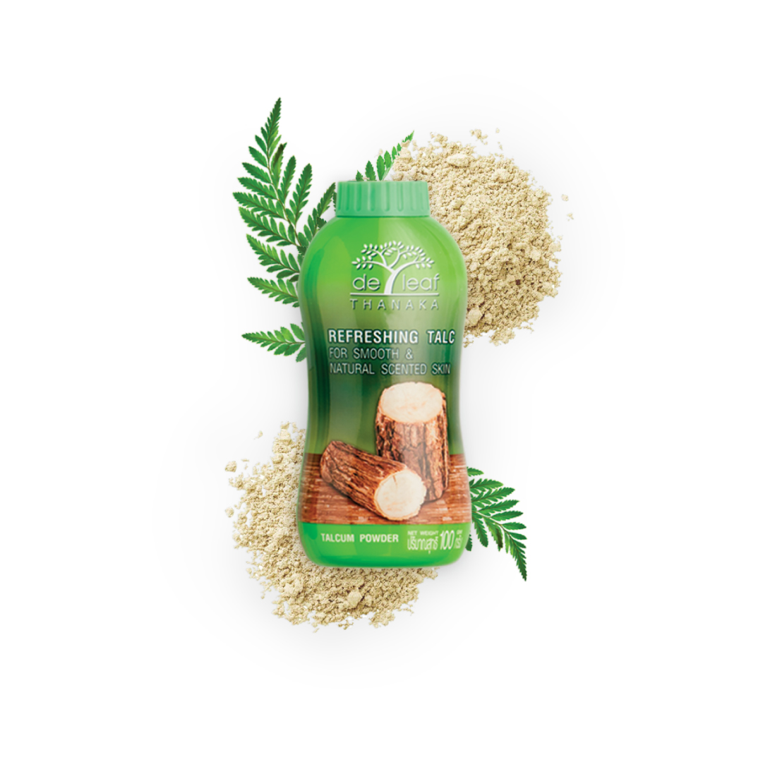 De Leaf Thanaka Refreshing Talcum Powder