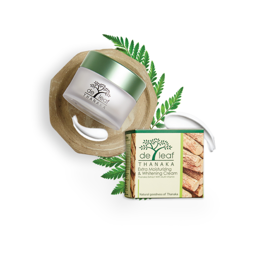 De Leaf Thanaka Moisturizing & Whitening Cream