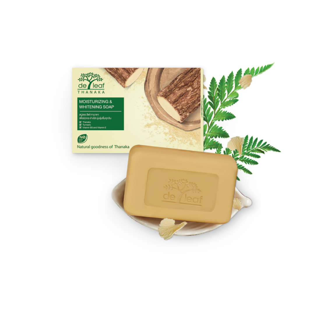 De Leaf Thanaka Moisturizing & Whitening Soap