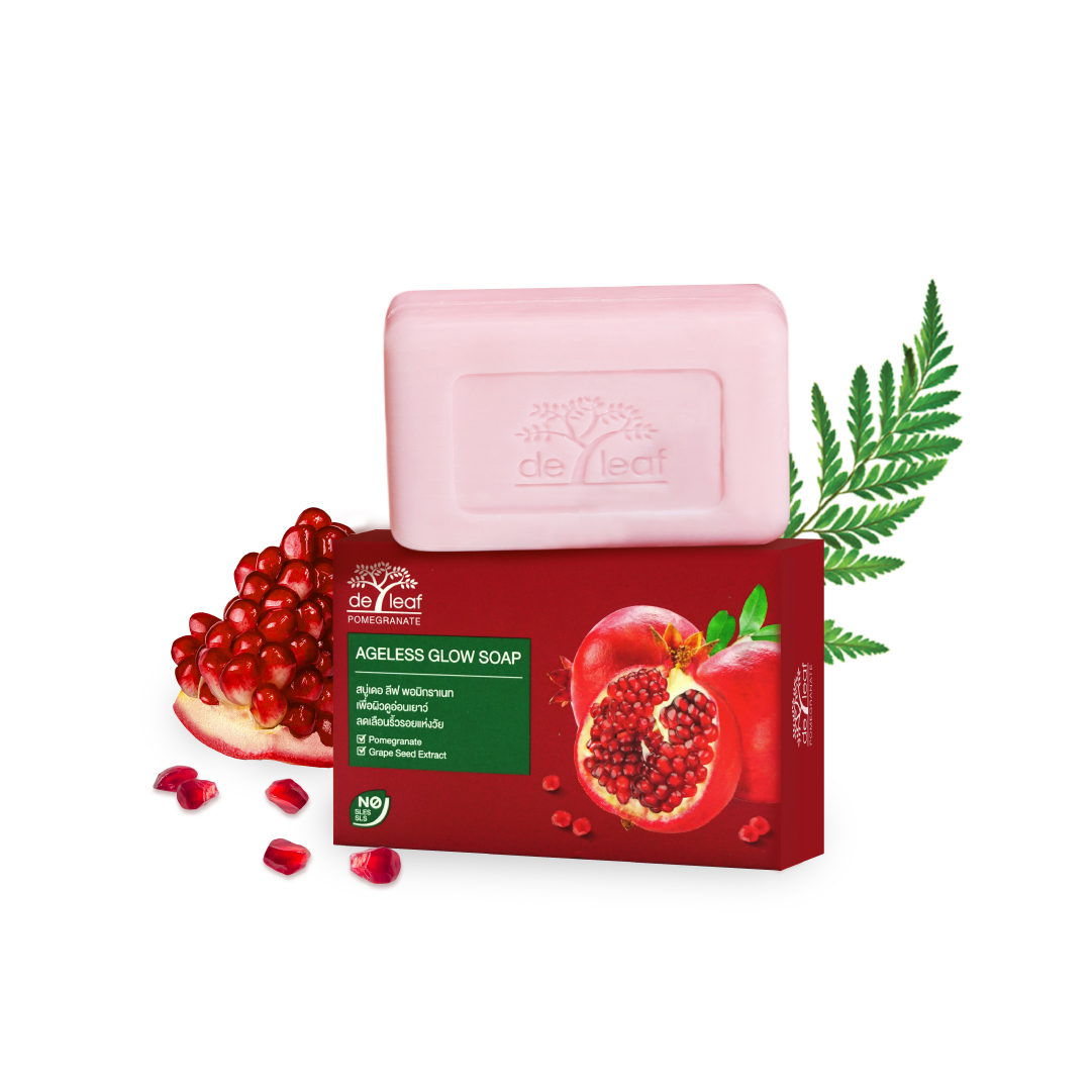 De Leaf Pomegranate Ageless Glow Soap